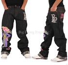 TIME IS MONEY MENS BOYS PINK PANTHER EEZY STAR BAGGY LOOSE FIT JEANS G SKATER
