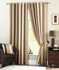 Dreams n Drapes Natural Whitworth Ready Made Stripe Eyelet Ring Top Curtains