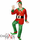 Mens Christmas Deluxe Elf Santa's Helper Fancy Dress Costume Xmas Grotto Quality