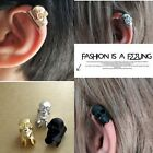 3Pcs New Fashion Punk Silver/golden/black skull Cuff Wrap Ear Clip Earring