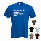 'Hard work pays off Tomorrow. Laziness Pays off Today. Mens funny T-shirt.