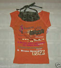 MECCA Girls Orange and Camo Top SHIRT SIZES 5 or 6X NWT