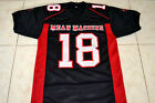 PAUL CREWE #18 MEAN MACHINE LONGEST YARD MOVIE FOOTBALL JERSEY BLACK- ANY SIZE