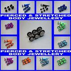 Fake Plugs 3 & 4  piece Sets, Fake Stretchers Sets, Cheater Taper Sets Earrings