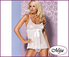 Obsessive Babydoll chemise plus thong S/M L/XL  Mistia white very sexy