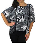 Women Plus Size Butterfly Batwing Top Size 16 1XL 18 2XL 20 3XL NEW PURPLE GREY