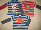 Mini Boden Applique T Shirt Top 1.5 to 12 years Stripes Monkey Pirate Dog Fish
