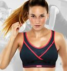 Shock Absorber Ultimate Gym Sports Run / Running Bra S002Z in Black  / Red