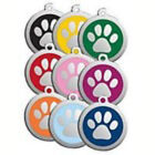Red Dingo Engraved Dog Cat Pet ID Tags Charms - Paw Print - 3 Sizes - Same Price