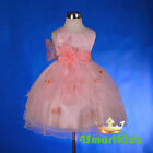 Coral Scoop Formal Flower Girl Dress Wedding Occasion Party Kid Size 2-6 FG220B