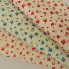 "per half metre tiny floral blue  cerise blush 44""  100% cotton poplin fabric"
