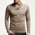 Muscle Mens Casual Slim Fit Cotton Soft T Shirt Stylish Basic Tops Dress Shirts