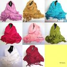 Very Fine Soft 100% Turkish Cotton Fringed Pashmina Scarf Stole Hijab Head Wrap