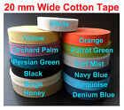 13 colours quality Herringbone Tape 20 mm Cotton webbing Aprons Decoration craft