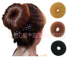 Popular Hair donut bun buns ringe black brown blonde 9 Style 3 size color cute