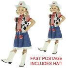 RED CHECK COWGIRL DRESS, HAT & BANDANNA WESTERN GIRLS FANCY DRESS ALL SIZES