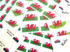 Welsh Dragon, Flag Stickers, Wales Labels - Various Shapes & Sizes