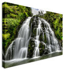 Large Picture Waterfall Forest Cascade Drop Canvas Art Cheap Print