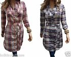 NEW LADIES WOMANS SUMMER WORK SEXY COTTON TUNIC/DRESS SIZE 8/16 UK LONG TOP
