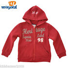 Mayoral Boys Red Letter Embroidered Fleece Hoodie Jacket Size 2/4