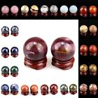 30mm Gemstone Ball Decoration Cabochon for Home Room & Car, Match Stand 1.2""