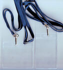 1 Clear Flexible ID Badge Card Holder & 10mm Lanyard: 11 Colours Available