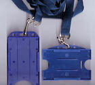 1 x ID Badge Card Rigid Holder & 15mm Lanyard: 10 Colours Available FREE UK P&P