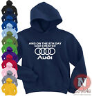Naughtees Clothing Hoodie On The 8th Day God Created Audi Poly Cotton Blend New