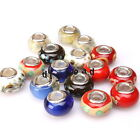 Colorful Opaque Round Charms Lampwork Beads Fit European Bracelets Jewelry made