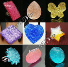 New Lots Fashion Mixed Colors Bright Plastic Bead Rings More Styles