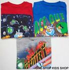 ANGRY BIRDS Boys 8 10 12 14 16 18 20 Short Sleeve SHIRT Tee Top SPACE