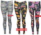 U77 NEW WOMENS LADIES GRAFFITI, BARBIE, BOOM PRINT RETRO LEGGING IN 08,10,12,14