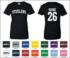 Steelers Custom Personalized Name & Number Woman's T-shirt