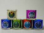 AROMATHERAPY CANDLES-100% SOY -ESSENTIAL OILS-COLORED VOTIVE GLASS