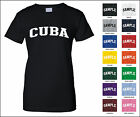 Country of Cuba College Letter Woman's T-shirt