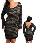 Ladies Plus Size Sexy Black Lace Bell Sleeve Dress 14 16 18 20 1XL 2XL 3XL NEW