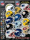 NFL Team Helmet Football Sticker, some teams are buy one get one free $0.99 USD on eBay