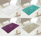 Country Club 100% Cotton Bath Mat 50x80cms Approx With A Circular Spiral Design