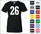 Number 26 Twenty Six Sports Number Woman's Jersey T-shirt Front Print