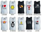 MENS TOP TANK SINGLET FUNNY HUMOR 100% COTTON FREE SHIPPING