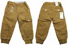 BNWT BOYS BABIES TODDLERS EBB278 ETO  CUFFED TAN CHINO JEANS 2-8 YEARS SALE
