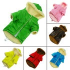 Winter Dog Clothes Fur Lined Dog Coat Puffer Hoodie Pet Winter Coat Puppy Jacket