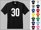 Number 30 Thirty Sports Number Youth Jersey T-shirt Front Print