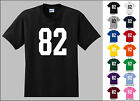 Number 82 Eighty Two Sports Number Youth Jersey T-shirt Front Print