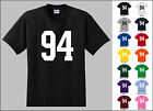 Number 94 Ninety Four Sports Number Youth Jersey T-shirt Front Print