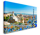 Park Guell in Barcelona Canvas Art Cheap Print