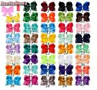 5 INCH BIG BOW HAIR CLIP PIN ALIGATOR CLIPS GROSGRAIN RIBBON BOW FLOWER GIRL