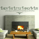 Enjoy The Little Things - Removable Wall Quote / Large Interior Wall Quote niq39