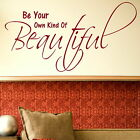 Be Beautiful - Interior Wall Quote / Large Art / Big Removable Wall Quote X88
