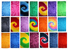 Tie Dye Beach Towels, Red, Purple, Navy, Multi-Color, 100% Cotton, 4.8 x 2.5 ft